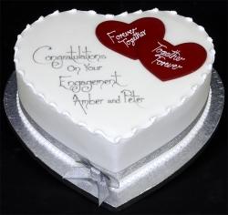 Heart Shape Pineapple Cake-