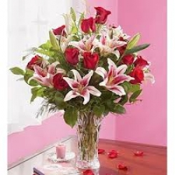 Red N Pink Flower Bouquet
