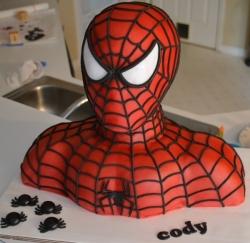 Spider Man Shape Cake - 2 Kg