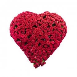 Heart Shape Red Rose Arrangement