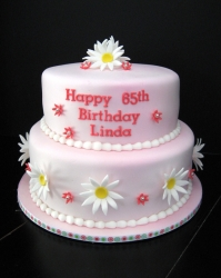 2 Tier Birthday Cake - 4 Pound Or 2 Kg