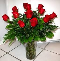 A Red Roses Vase Arrangement