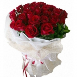 9 Stem Red Roses Bunch