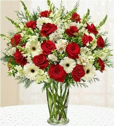 Red And White Flower Bouquet