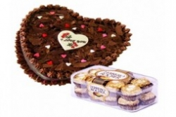 Heart Shape Cake N Chocolate