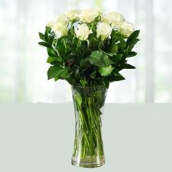 White Flower Vase Arrangement