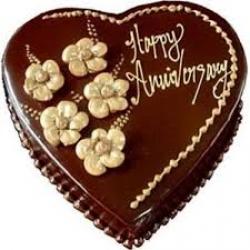 Heart Shape Chocolate Cake - 1kg