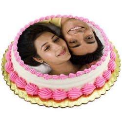 Strawberry Photo Printed Cake 1 Kg