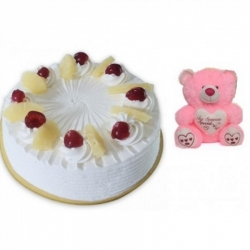 Pineapple Cake & Pink Teddy