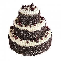 3 Tier Black Forest Wedding Cake 3 Kg