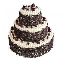 3 Tier Black Forest Wedding Cake 3 Kg