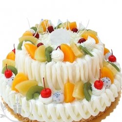 Fresh Fruit Cake 2 Tier -2 Kg