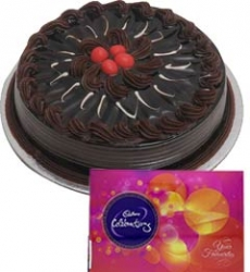Chocolate Truffle Cake And Cadbury Celebration