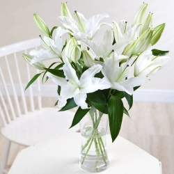 White Lilies Flower Arrangement
