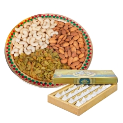 Dry Fruits And Kaju Katli Combo Gift
