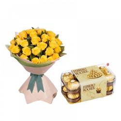 Elegant Ferrero With Rose Bouquet