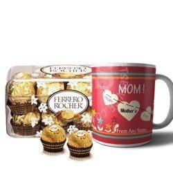 Personalised Mug And Ferrero Rocher Combo Gift
