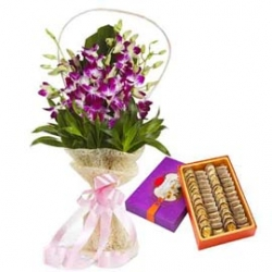 Flower Bunch Of Orchid And Kaju Roll