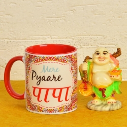 Personalised Mug And Laughing Budha