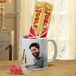 Personalized Mug And Toblerone Chococlate