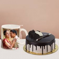 Personalized Mug With Chocolate Cake