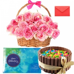 Kit Kat Cake Pink Roses Bouquet Cadbury Celebration