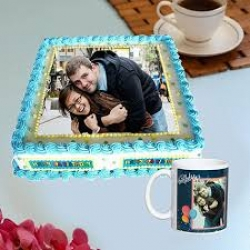 Photo Printed Mug And Cake Combo