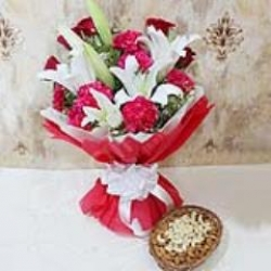 Exotic Flower Bouquet Dry Fruits
