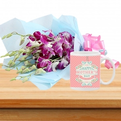 Orchid Bunch And Personalized Mug