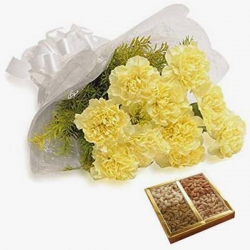 Yellow Carnations Dry Fruits