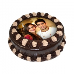 Chocolate Photo Printed Cake 1 Kg