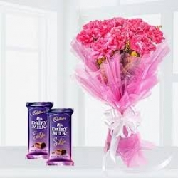 Pink Carnation Dairy Milk Silk