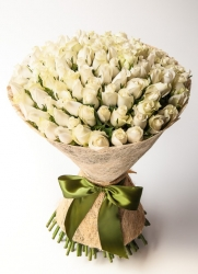 White Flower Bunch For Bride