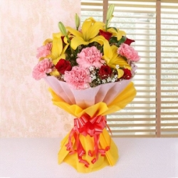 Exotic Flower Bunch For Grandparents