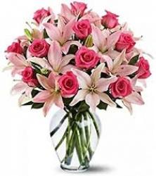Pink Flower Arrangement For Friend