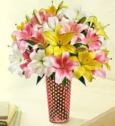 Flower Bouquet Of Lilies