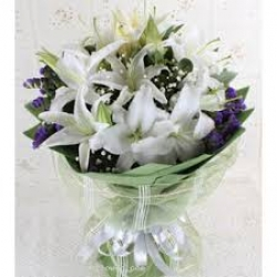 Flower Bouquet Of White Lilies