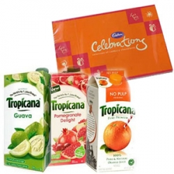 Tropicana Juice And Chocolate Combo