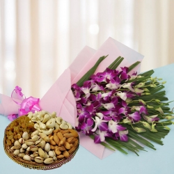 Orchid Bunch N Dry Fruit Box