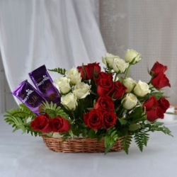 Roses Bouquet And Chocolate Combo
