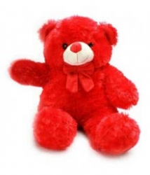 Cute Red Teddy 15 Inches