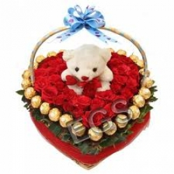Red Roses Teddy Ferrero Rocher