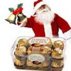 Cute Santa N Chocolate Combo Gift