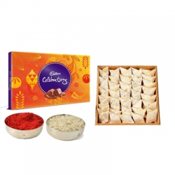 Kaju Barfi N Cadbury Celebration Box