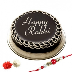 Rakhi With Chocolate Truffle Cake