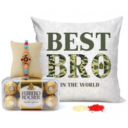 Rakhi Ferrero Rocher Cushion Cover