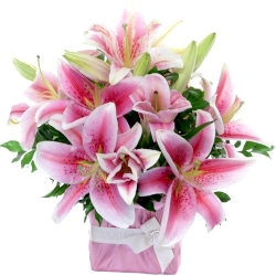 Pink Lilies Flower Bouquet