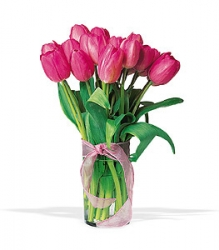 Pink Tulip Birthday Arrangement