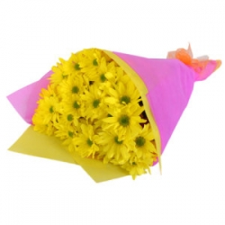 Yellow Flower Bouquet For Friends