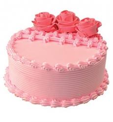 Eggless Strawberry Cake- 1 Kg